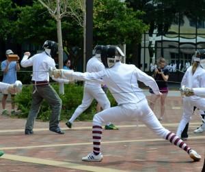 Fencing 2014 Flashmob 100